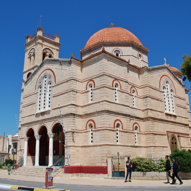 """Church of Panagitsa, Aegina island"" stock image"