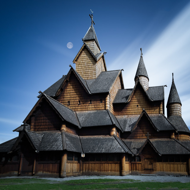 """""""Stave Church in Heddal"""" stock image"""