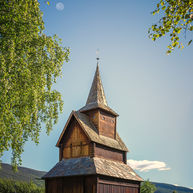 """""""Stave Church in Torpo"""" stock image"""