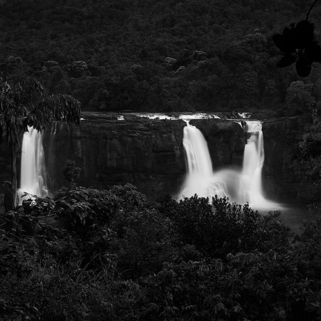 """Athirappalley Water Falls - Study 4"" stock image"