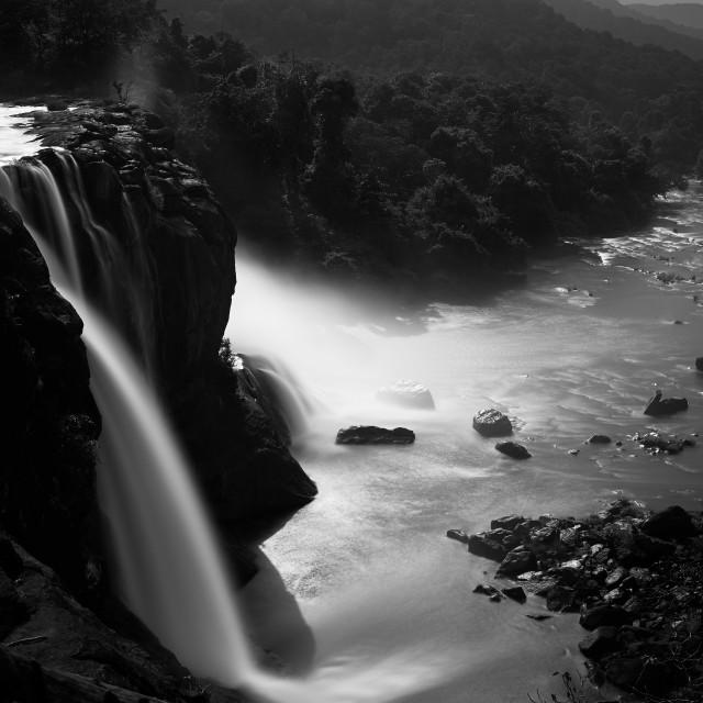 """Athirappalley Water Falls - Study 2"" stock image"