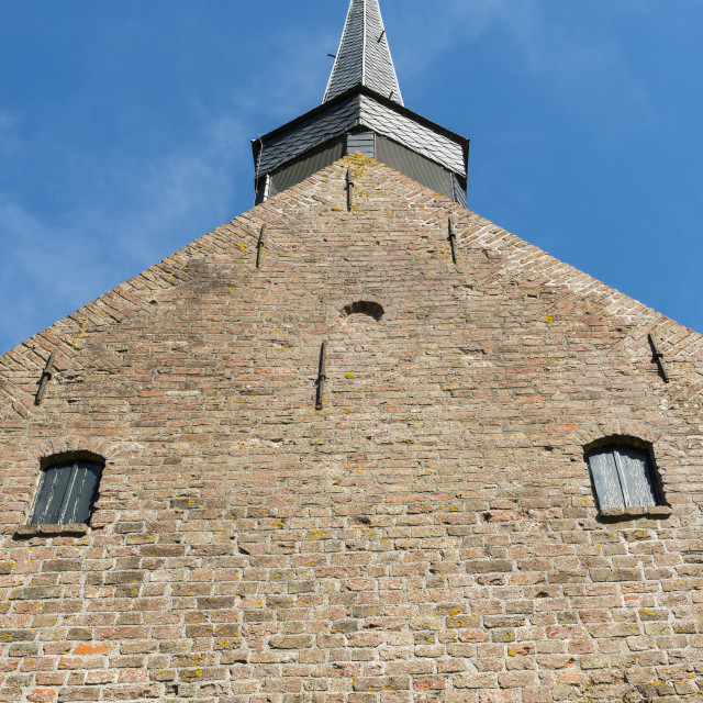 """""""Front of Church Niehove"""" stock image"""