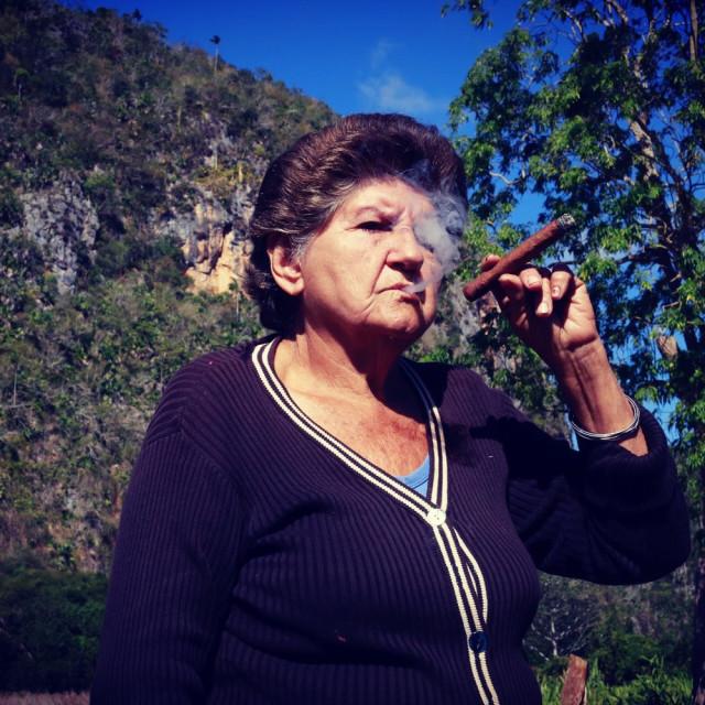 """""""Cigar Mama, Cuba"""" stock image"""
