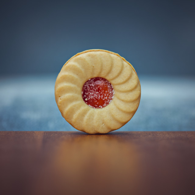 """A jammy biscuit"" stock image"