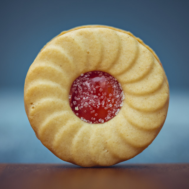 """A jam biscuit"" stock image"