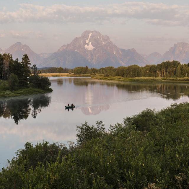 """Grand Teton Sunrise"" stock image"