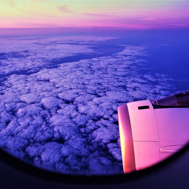 """View from a plane inflight"" stock image"