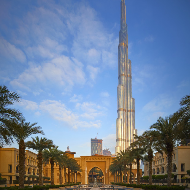 """""""The Burj and the Palace"""" stock image"""