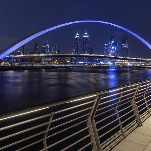 """Tolerance bridge, Dubai"" stock image"