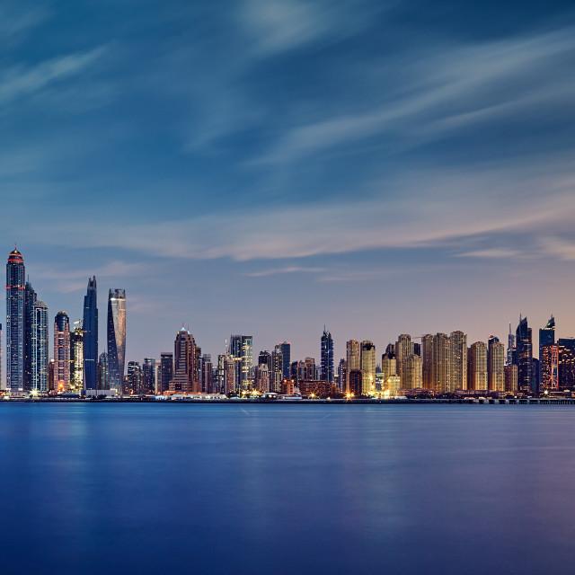"""Dubai dusk"" stock image"