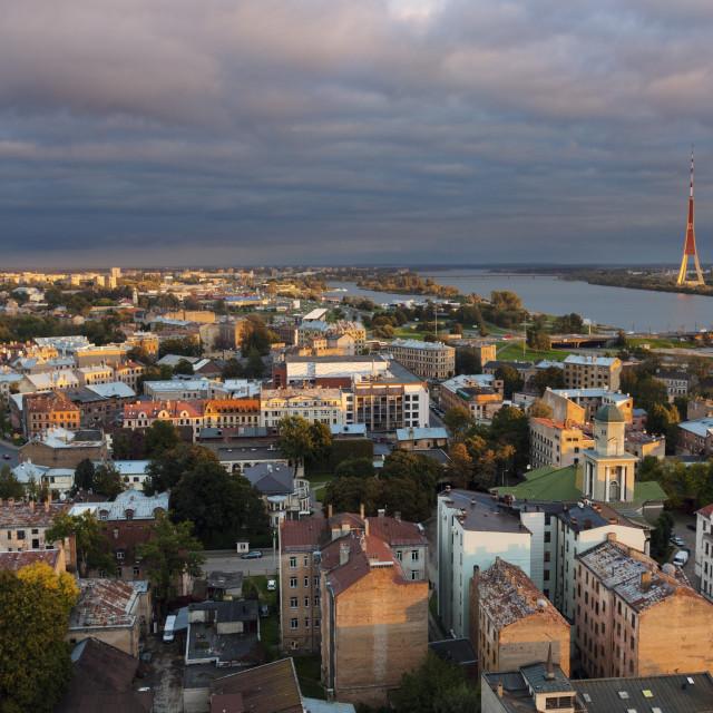 """Panorama of Riga"" stock image"