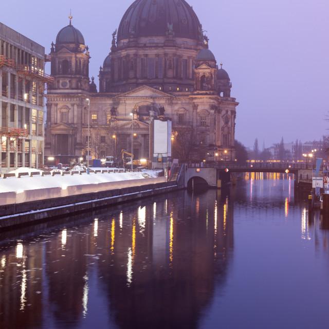 """Berlin Cathedral at dawn"" stock image"