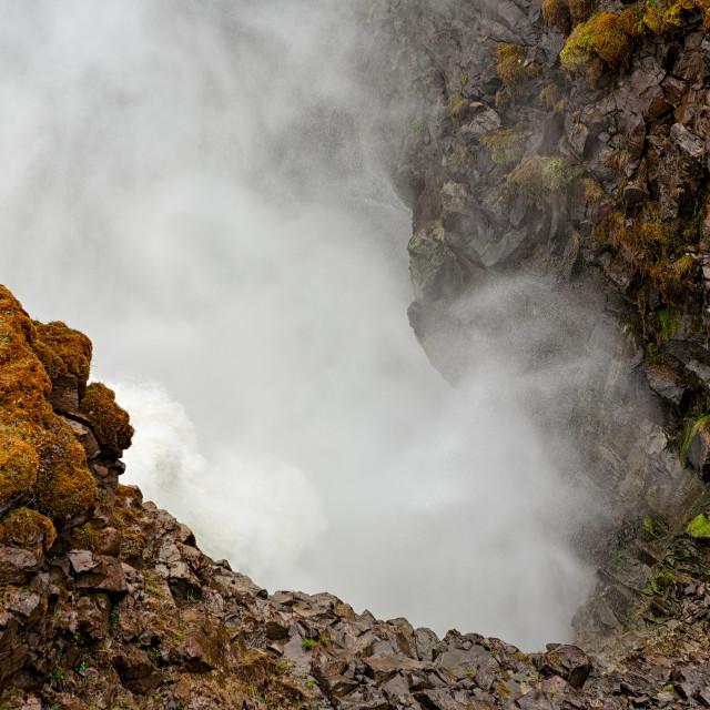 """""""Closeup of Gullfoss waterfall"""" stock image"""