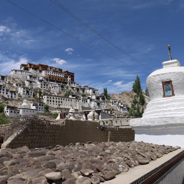 """""""Thiksey Monastery, Ladakh, India"""" stock image"""