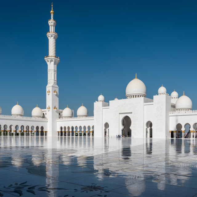 """Sheikh Zayed Mosque - Abu Dhabi"" stock image"