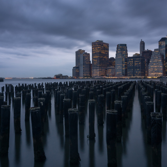 """Moody Manhattan"" stock image"