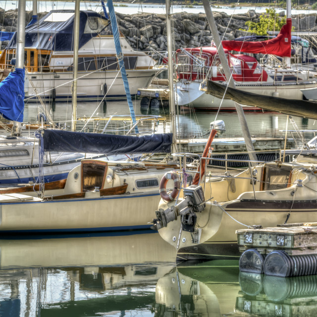 """""""Meaford Harbour"""" stock image"""