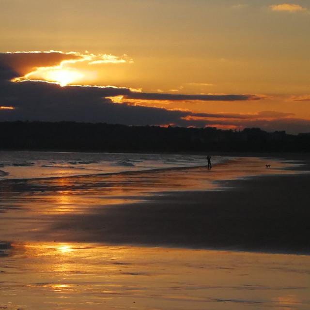 """Sunset deep yellow"" stock image"