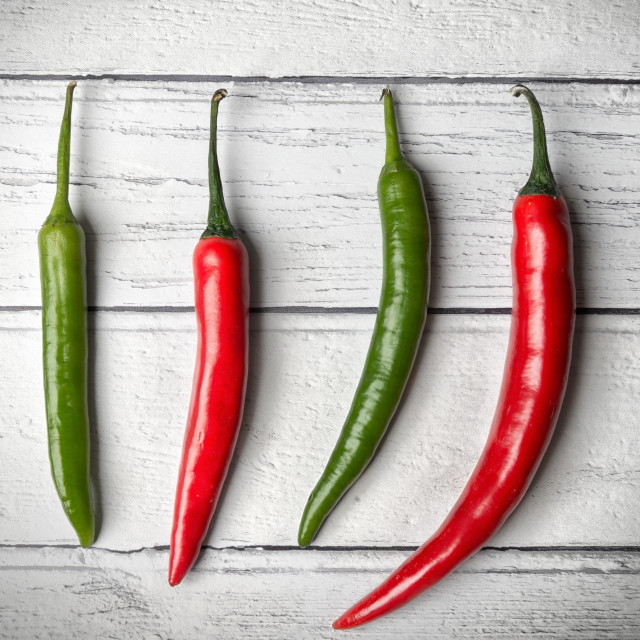 """Chilli Line Up"" stock image"