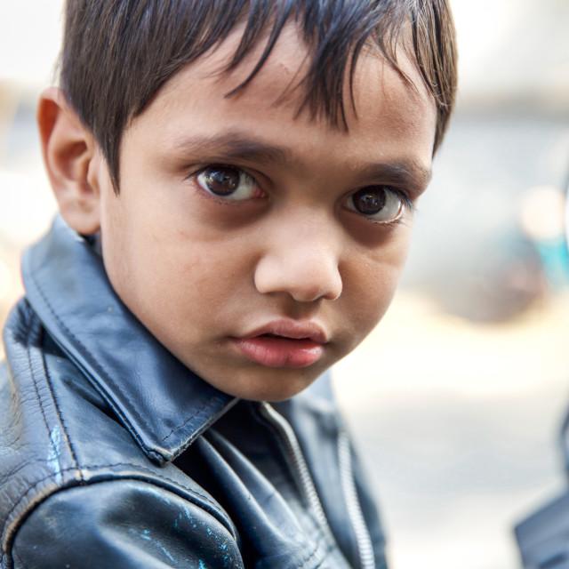 """Kids in Kolkata - India III"" stock image"