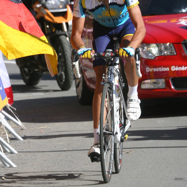 """Alberto Contador - Verbier Mountain Stage Winner"" stock image"