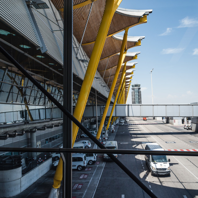 """Jetway Madrid Barajas Airport"" stock image"