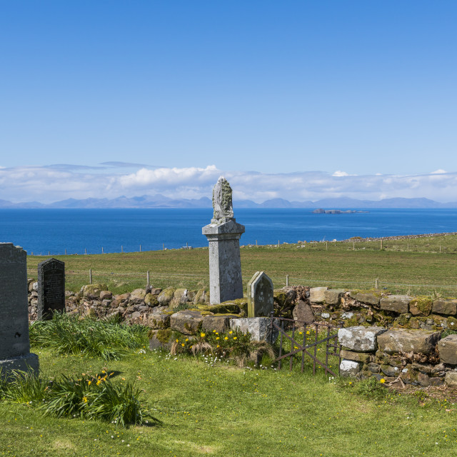 """Kilmuir Graveyard View"" stock image"