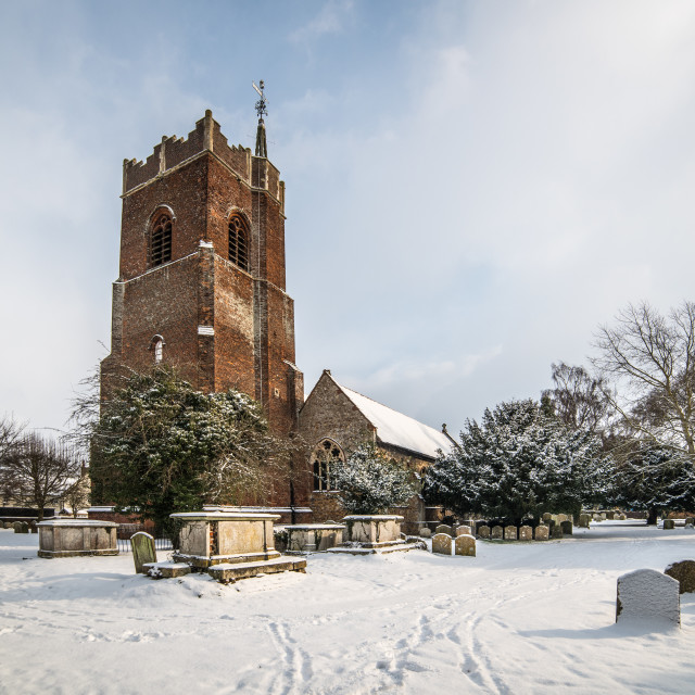 """St Michaels Church Thorpe Le Soken"" stock image"