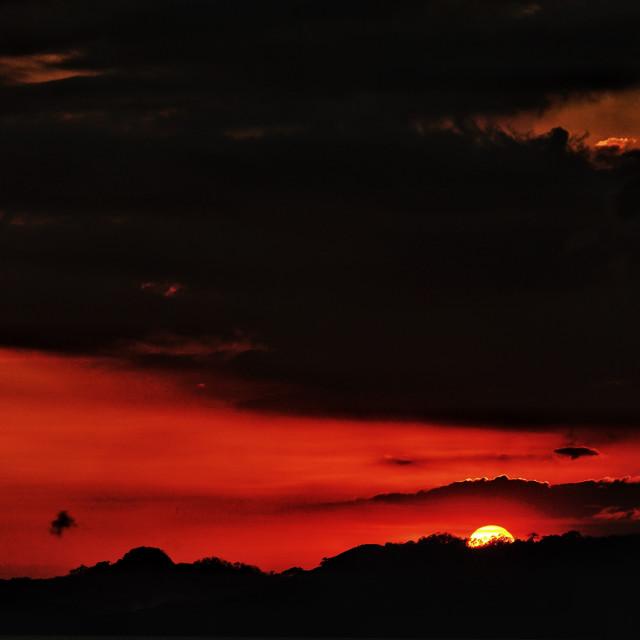 """""""Sunset, Bataan, Philippines"""" stock image"""