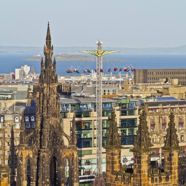 """UK, Scotland, Lothian, Edinburgh, View of The Scott Monument."" stock image"