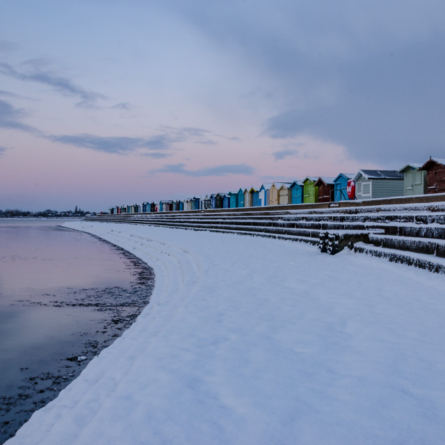 """Snow on the seafront"" stock image"