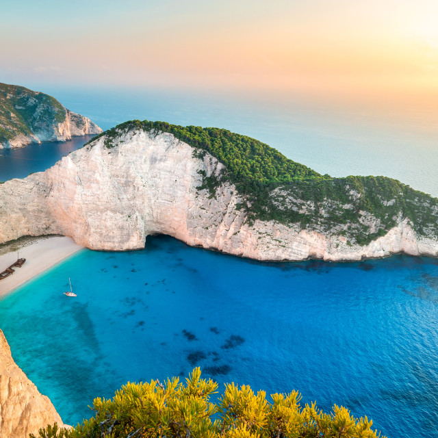 """Navagio Beach, Zakynthos Island, Greece"" stock image"