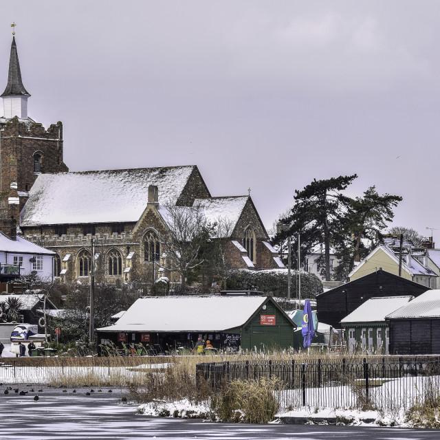 """Snowy Maldon"" stock image"