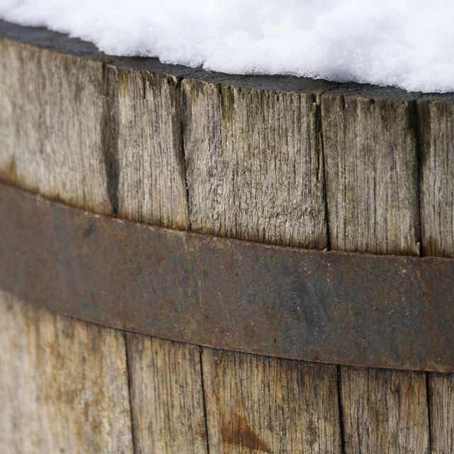 """Snowy Barrel"" stock image"