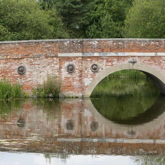 """""""Reflecting at Catterwade Bridge"""" stock image"""