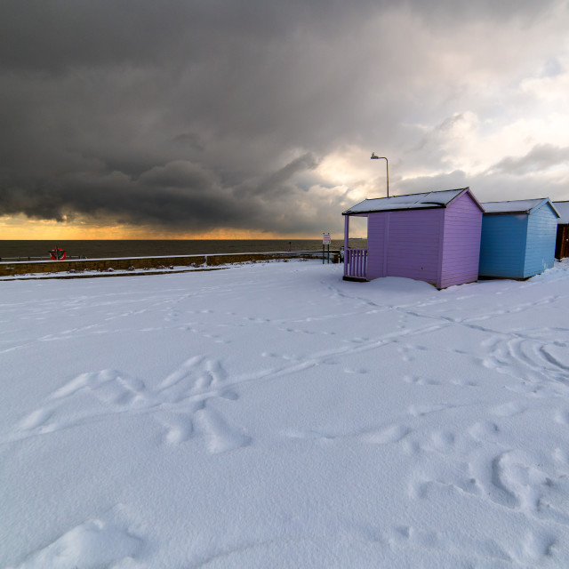 """""""Snow Showers Off Harwich"""" stock image"""