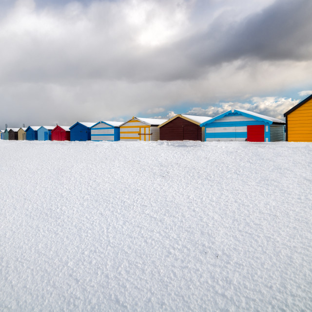 """""""Colourful Snow in Harwich"""" stock image"""