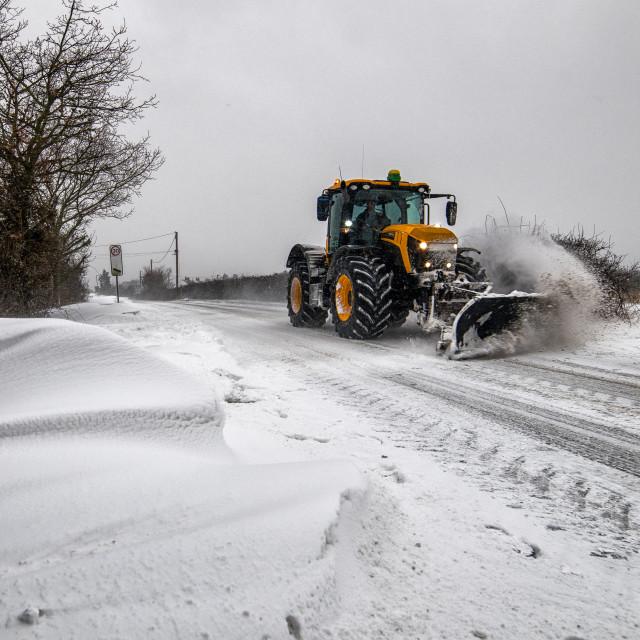 """Snow Plough"" stock image"