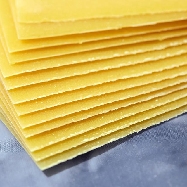"""""""Stack of lasagna sheets"""" stock image"""
