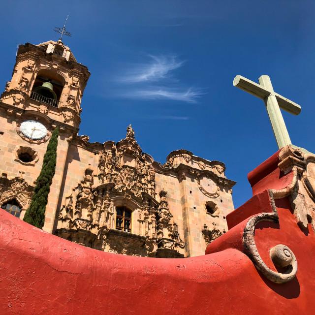 """""""La Valenciana Church (San Cayetano)"""" stock image"""