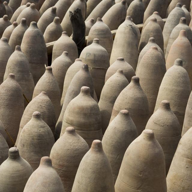 """Old Pisco Jars, Cuzco, Peru"" stock image"