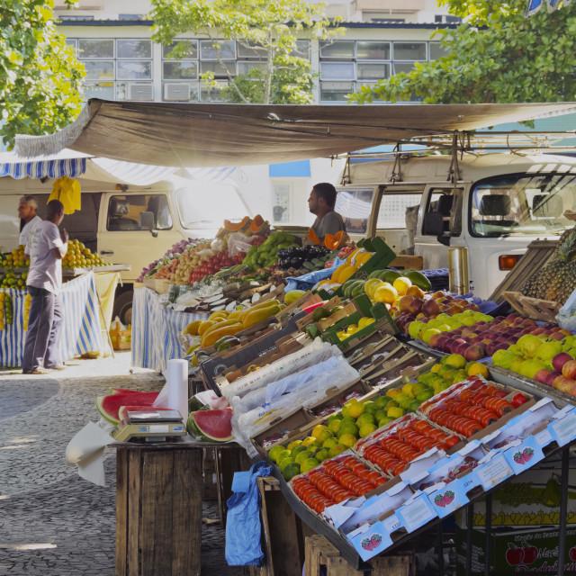 """Brazil, City of Rio de Janeiro, Leme, Weekly Fresh Food Market."" stock image"