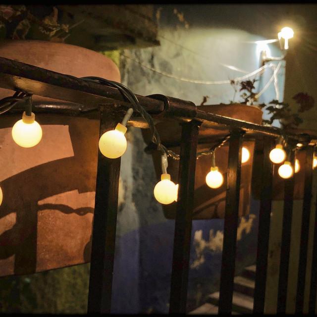 """""""Night Lights"""" stock image"""