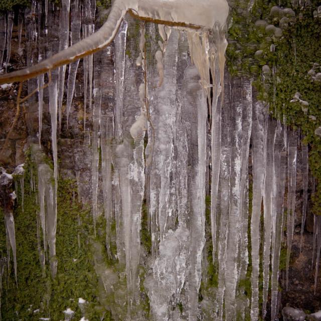 """ice waterfall"" stock image"