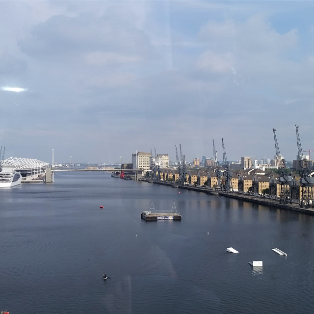 """Royal Victoria Dock"" stock image"