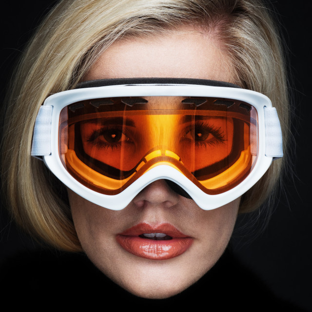 """woman in skimask"" stock image"