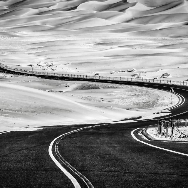 """""""Road to Liwa"""" stock image"""