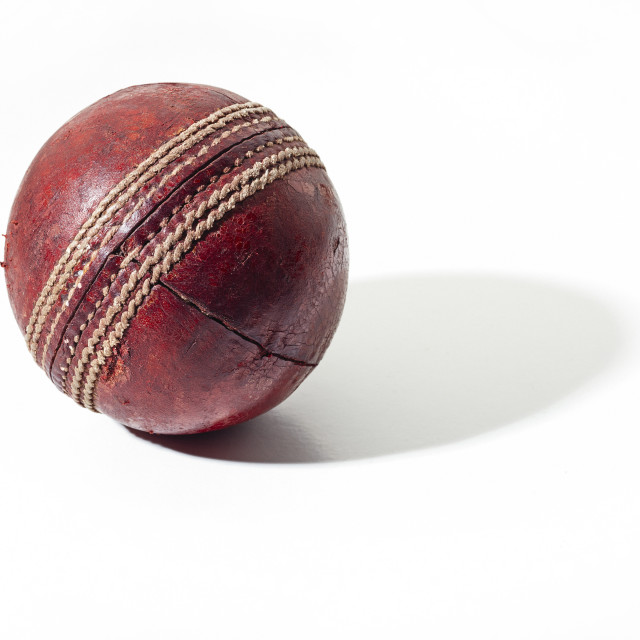 """Cricket ball"" stock image"