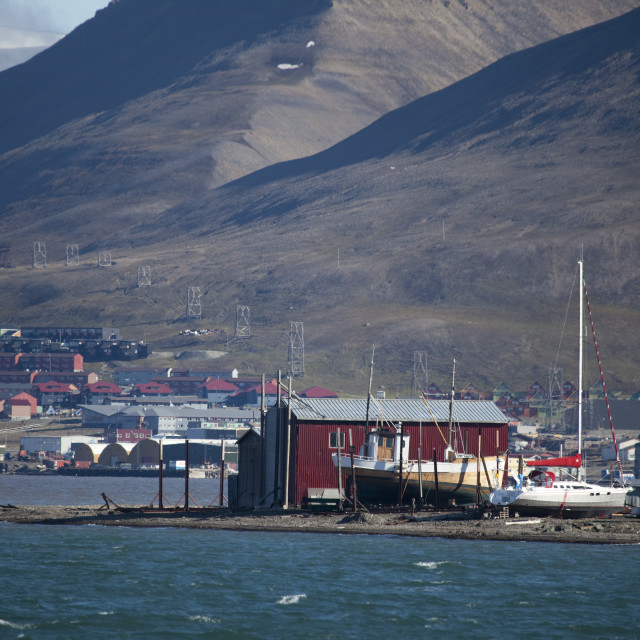 """The port of Longyearbyen"" stock image"