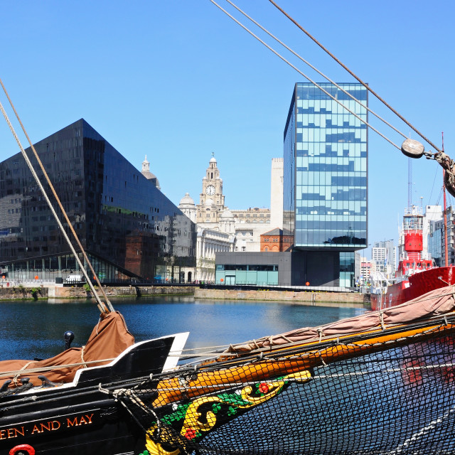 """""""Canning Dock, Liverpool"""" stock image"""